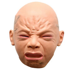 Halloween Baby Cry Full Head Latex Mask Party Funny Sad Rubber Masquerade Mask