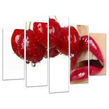 Set of 5 Piece Erotic Red Lips Canvas Wall Art Bedroom Pictures 5049