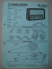PHILIPS bd483a 1001 SERVICE MANUAL Edizione 04/58 su cartone BLU