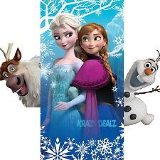 Disney Frozen Beach Bath Towel Elsa Anna Cotton Gift Official Licensed