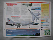 Aircraft of the World Card 53 , Group 5 - Mikoyan MiG-31 'Foxhound'