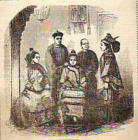 1859 Ballou's - China - A Chinese Family