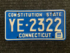 New Listing1979 Connecticut License Plates #Ye-2322 . Nutmeg & Constitution State