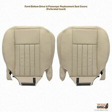2003-2004 Lincoln Navigator Driver & Passenger Bottom Leather Seat Cover Tan