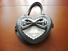 Angelic Pretty Sweet Lolita Black and White Heart Shaped Handbag Purse Used