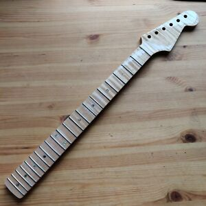 New One Piece Flamed Roasted Maple Strat Stratocaster Style Neck Skunk Stripe