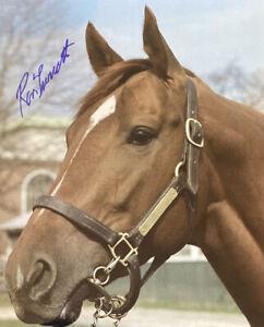 Secretariat photograph signed Ron Turcotte autograph 8x10 Portrait