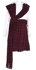 SCOTTISH HIGHLANDER OUTFIT with SHIRT 'CAMPBELL' BRIGADOON MACBETH