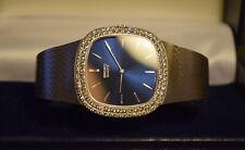 Increíble De Colección De Caballeros De Oro Blanco 18ct y Diamante Seiko elipse Reloj 83g 1977