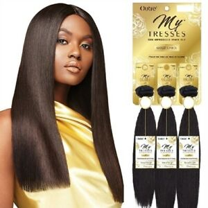 """Natural Straight 14""""16""""18"""" Outre My Tresses Gold Label  Unprocessed Human Hair"""
