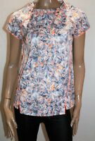 Spicysugar Brand Grey Neon Orange Short Sleeve Blouse Top Size 14 BNWT #TE90