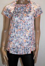 Spicysugar Brand Grey Neon Orange Short Sleeve Blouse Top Size 14 BNWT #TE90