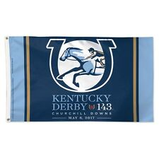 New listing Kentucky Derby 143 Churchill Downs May 6, 2017 3'X5' Deluxe Flag New Wincraft