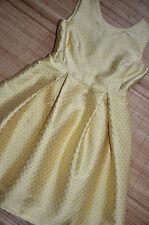 HALLHUBER DONNA wunderschönes Falten Kleid Gr. 44 / UK 16 neu Zartgelb