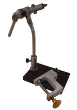 Apex Rotary Fly Tying Vise - w/ Pedestal & Clamp Base 6/0 to Size 32 Hooks