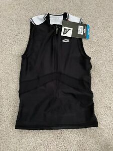 Louis Garneau Pro Sleeveless Zip Mens Jersey Top BLK/WHITE NEW 89.99$ M Medium