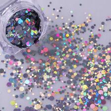 1PC Laser Nail Art Glitter Confetti Sequins Acrylic Tips UV Gel Nail Decorations
