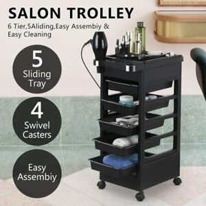 Salon Hairdresser Barber Spa Beauty Storage Trolley Hair Drawers Colouring Cart