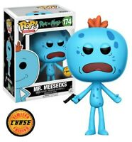 Funko - POP Animation: Rick &Morty - Mr. Meeseeks #174 LIMITED CHASE EDITION New