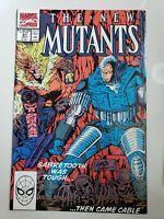 THE NEW MUTANTS #91 (1990) MARVEL EARLY APPEARANCE CABLE! ROB LIEFELD SABRETOOTH