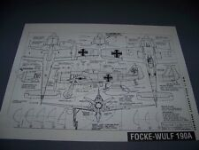 VINTAGE..FOCKE-WULF 190A..5-VIEWS/DETAILS..RARE! (246B)