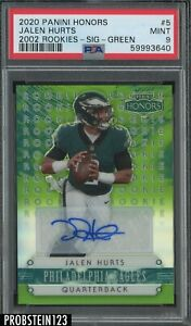 2020 Panini Honors Jalen Hurts RC Rookie Auto Green /35 PSA 9 Low POP #5