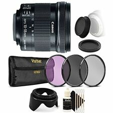 Canon EF-S 10-18mm f/4.5-5.6 IS STM Lens for Canon T7 T7i with Accessory Bundle