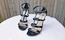 Michael Antonio Justine Sexy Ankle Strap Shoes Black Patent  4 3/4 Heel Size 9