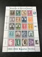 Marshall Island Sheet 1922 - 1925 Regular Series. 1 Mint & 1 F. D. C.