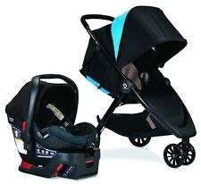 Britax B-Lively Stroller & B-Safe Ultra Car Seat Travel System Cool Flow Teal