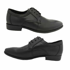 Mens Shoes Woodlands Marlin Leather Lace Up Work or Formal Black UK Size 6-12
