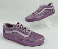 VANS Old Skool All Purple Glitter Lace Up Low Top Shoes Mens Size 5.5 Women's 7