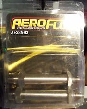 "Aeroflow Stainless Steel Through Frame Fitting 1/8"" NPT to -3AN"