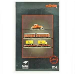 Z Scale Marklin 8134 500 Jahre Post Diesel 360 Loco & 4 Freight Cars Set LNIB A