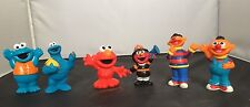 6 Sesame Street Hard Plastic & PVC Miniature Figures Cake Toppers Elmo Fireman