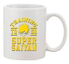 Training To Go Super Saiyan Anime Gym Workout Funny Parody TV White Coffee Mug