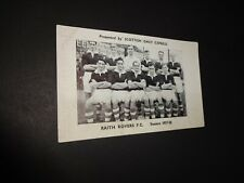 Raith Rovers 1957-58 Scottish Daily Express original advertising card