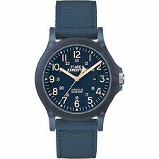 "Timex TW4B09600, Unisex ""Expedition Acadia"" Blue Nylon Watch, Indiglo, Date"
