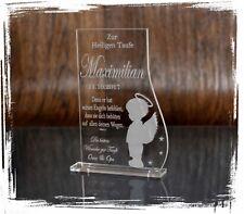 1 Aufsteller & Lasergravur indiviuelle Textgravur - JUNGE - Taufe / Kommunion