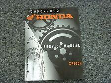 2000 2001 2002 Honda XR200R Dirt Bike Motorcycle Shop Service Repair Manual