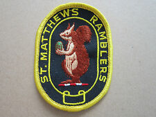 St Matthews Ramblers Walking Hiking Cloth Patch Badge (L2K)