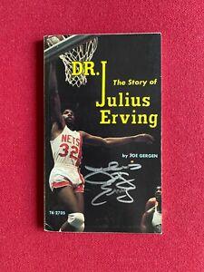 """1975, Julius (DR.J.) Erving, """"Autographed"""" (JSA) Paperback Book (Scarce/Vintage)"""