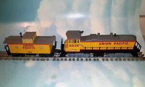 2236 K-Line Union Pacific Dual Motor M-15  Plus   6061 Caboose  No Reserve
