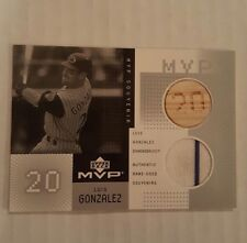 2002 UPPER DECK MVP LUIS GONZALEZ GAME-USED JERSEY BAT #C-LG DIAMONDBACKS CARD
