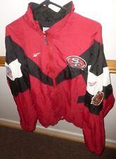 "1996 SAN FRANCISCO SF 49er's Nylon Zip Up JACKET w/ 50th SEASON PATCH, Chest 62"""