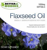 Flaxseed Oil 1000mg Softgels Omega 3 6 9 Flax Seed Linseed Oil