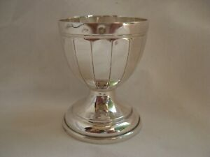 FRENCH ART DECO STERLING SILVER EGG CUP,EARLY 20th CENTURY.