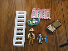 Playmobile Lot w/baby dressintable, figures, ladder & room divider