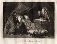 GRAVURE RELIGION / MORT DE SAINT JOSEPH