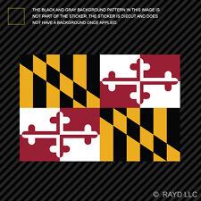 "4"" Maryland Flag Sticker Decal Self Adhesive Vinyl state marylander MD"